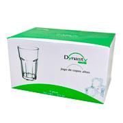 Jogo de copos de vidro baixo Dover 425 ml 06 peças