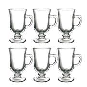 Jogo de xícara de vidro irish coffe 120 ml 06 peças