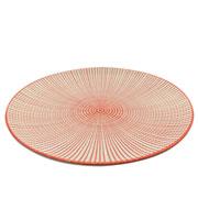 Prato de porcelana sobremesa Mix vermelho 18,5 cm