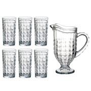 Jogo para refresco com jarra e copos filipa 330 ml 7 peças