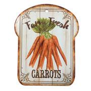 Descanso de panela em cerâmica fresh carrots