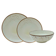Aparelho de jantar de porcelana nature cream 18 peças
