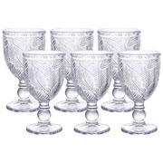Jogo de taças de vidro Folhagem 250 ml 06 peças