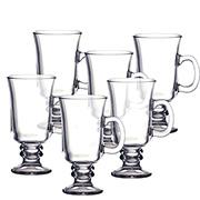 Jogo de xícaras de vidro Irish Coffe 260 ml 06 peças
