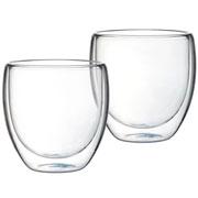 Jogo de copos de vidro parede dupla 240 ml 02 peças