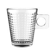 Jogo de xícaras de vidro square coffe 80 ml 06 peças