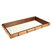 Bandeja de madeira retangular 60x35x4,5cm