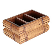 Porta controle remoto de madeira 19x12,5x10cm