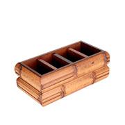 Porta Controle de madeira marrom 24x12x09 cm