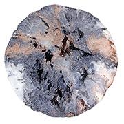 Centro de mesa de vidro azul 40x07cm