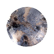 Centro de mesa de vidro azul mescla 30x06cm