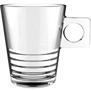 Jogo de xícaras de vidro Half coffe 80 ml 06 peças