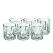 Jogo de copos de vidro baixo Tartan 315 ml 06 peças