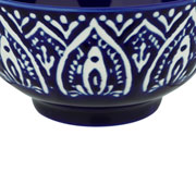 Bowl de porcelana azul escuro 12x06 cm