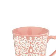 Caneca em porcelana rosa 235 ml