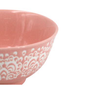 Bowl de porcelana rosa 12x06 cm