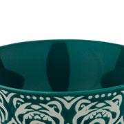 Bowl de porcelana verde 12x06 cm