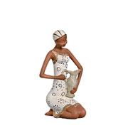 Enfeite em cerâmica Africana jarro 31 cm