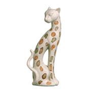 Enfeite em cerâmica Onça I 38 cm