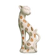 Enfeite em cerâmica Onça II 30 cm