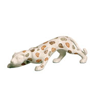 Enfeite em cerâmica Onça III 44x15 cm