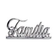 Enfeite em cerâmica Família prata 27x12 cm