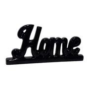 Enfeite em cerâmica Home preto 27x14 cm