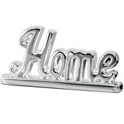 Enfeite em cerâmica Home prata 27x14 cm