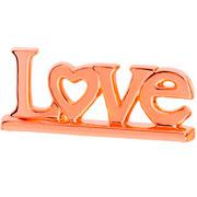 Enfeite em cerâmica Love cobre 27x11 cm