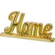 Enfeite em cerâmica Home dourado 27x14 cm