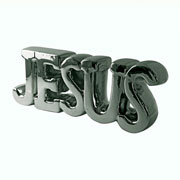 Enfeite de cerâmica Jesus colors 18x07 cm