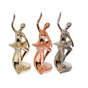 Enfeite de cerâmica bailarina colors I 06x18 cm