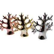 Enfeite de cerâmica árvore dourada 12x13 cm