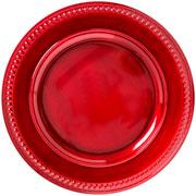 Sousplat Galles Dots Rouge Antique 33 cm
