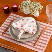 Lugar americano trama rosa chá 45x30 cm