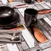 Toalha de mesa Kitchen quadrada 1,40m x 1,40 m