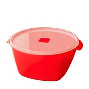 Pote Premium redondo vermelho 2 L
