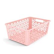 Cesta organizadora rosa 42x30 cm