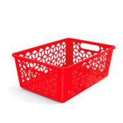 Cesta organizadora vermelha 42x30 cm
