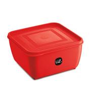 Pote multiuso quadrado vermelho 2.5 litros