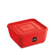 Pote multiuso quadrado vermelho 1.5 litros