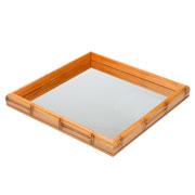 Bandeja de Bambú com espelho 36 cm