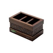 Porta controle de madeira coquinho espelhado 03 divisória