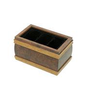 Porta controle de madeira radica 03 divisórias