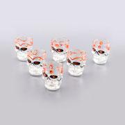 Conjunto de copos Caveira de vidro 50 ml 06 peças
