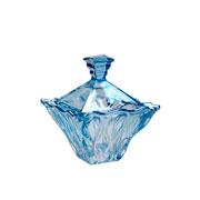 Bomboniere de cristal Safir azul 14 cm