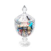 Potiche de cristal com pé Belle 31 cm
