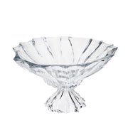 Centro de mesa de cristal Paradise com pé 19 cm