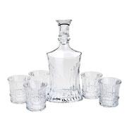 Conjunto de cristal para whisky 07 peças