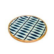 Bandeja redonda de madeira blue 35 cm